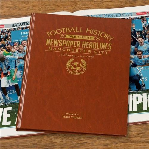 Personalised Manchester City Football Book